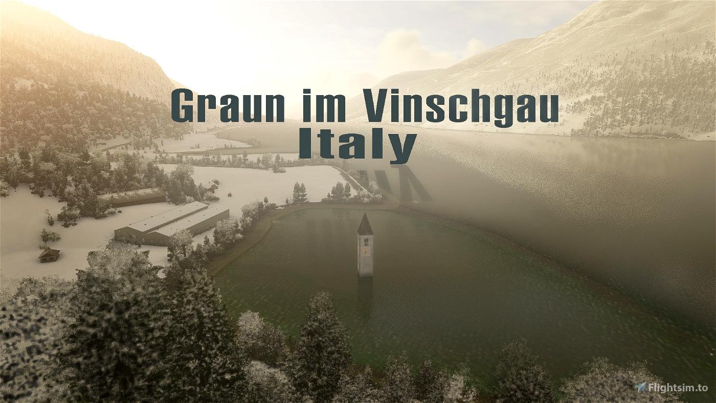 Graun im Vinschgau, Italy - Alpine Atlantis Flight Simulator 2020