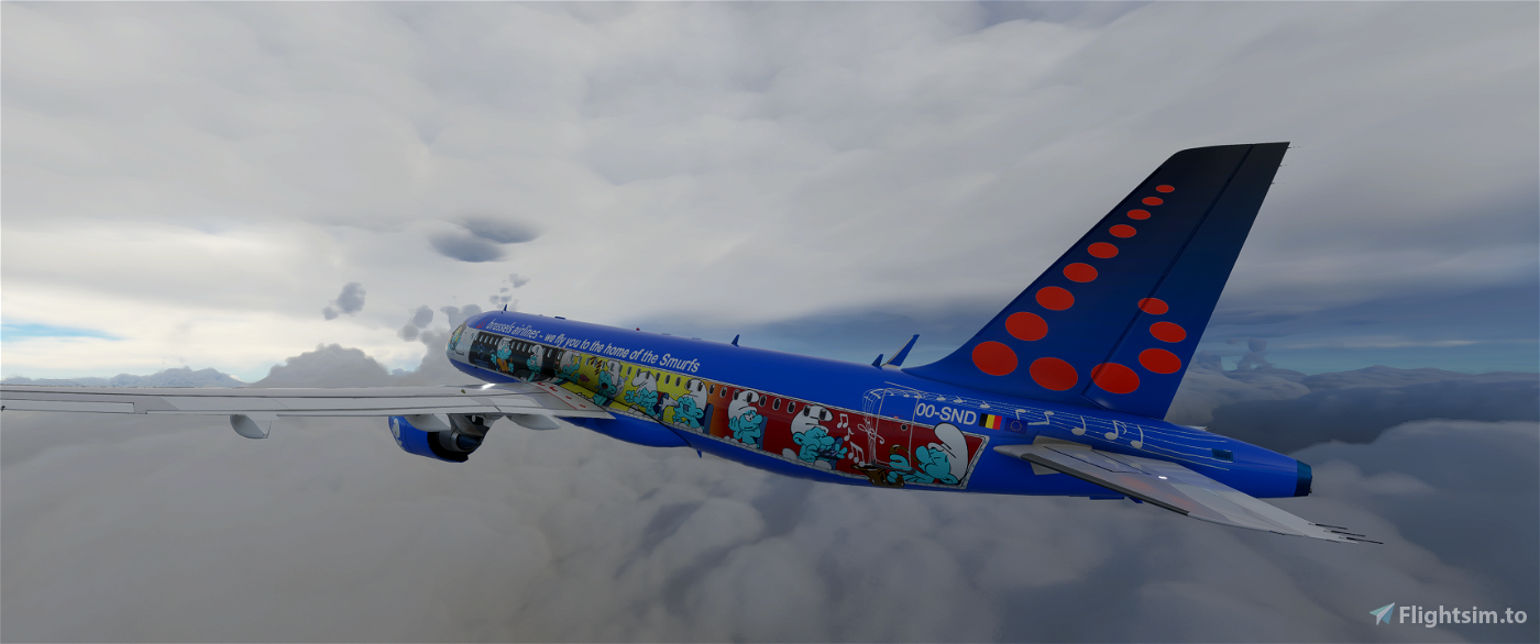 [8k] A320 Neo Brussels Airlines - Aerosmurf