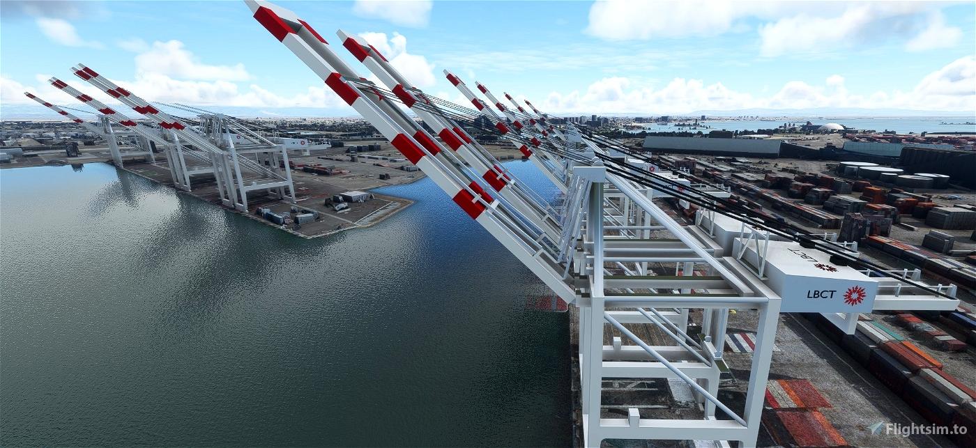 San Pedro Bay Port Facilities, Los Angeles & Long Beach CA USA V1.2 Flight Simulator 2020