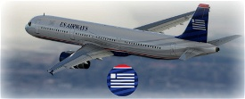 US Airways A321 [4K] Image Flight Simulator 2020
