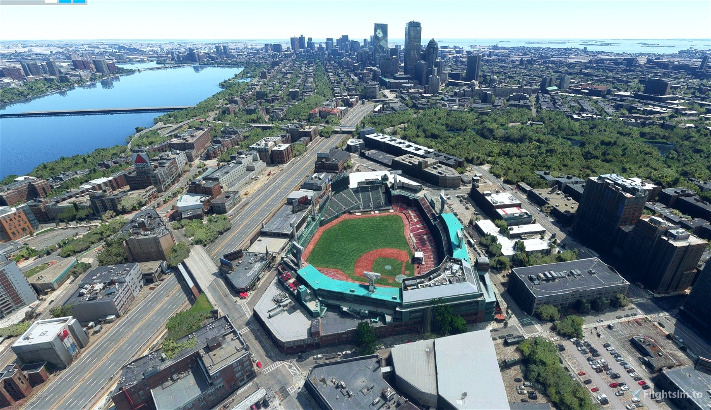 Fenway Park, Boston MA USA Flight Simulator 2020