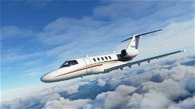 Citation CJ4 Red/Gold Livery Image Flight Simulator 2020