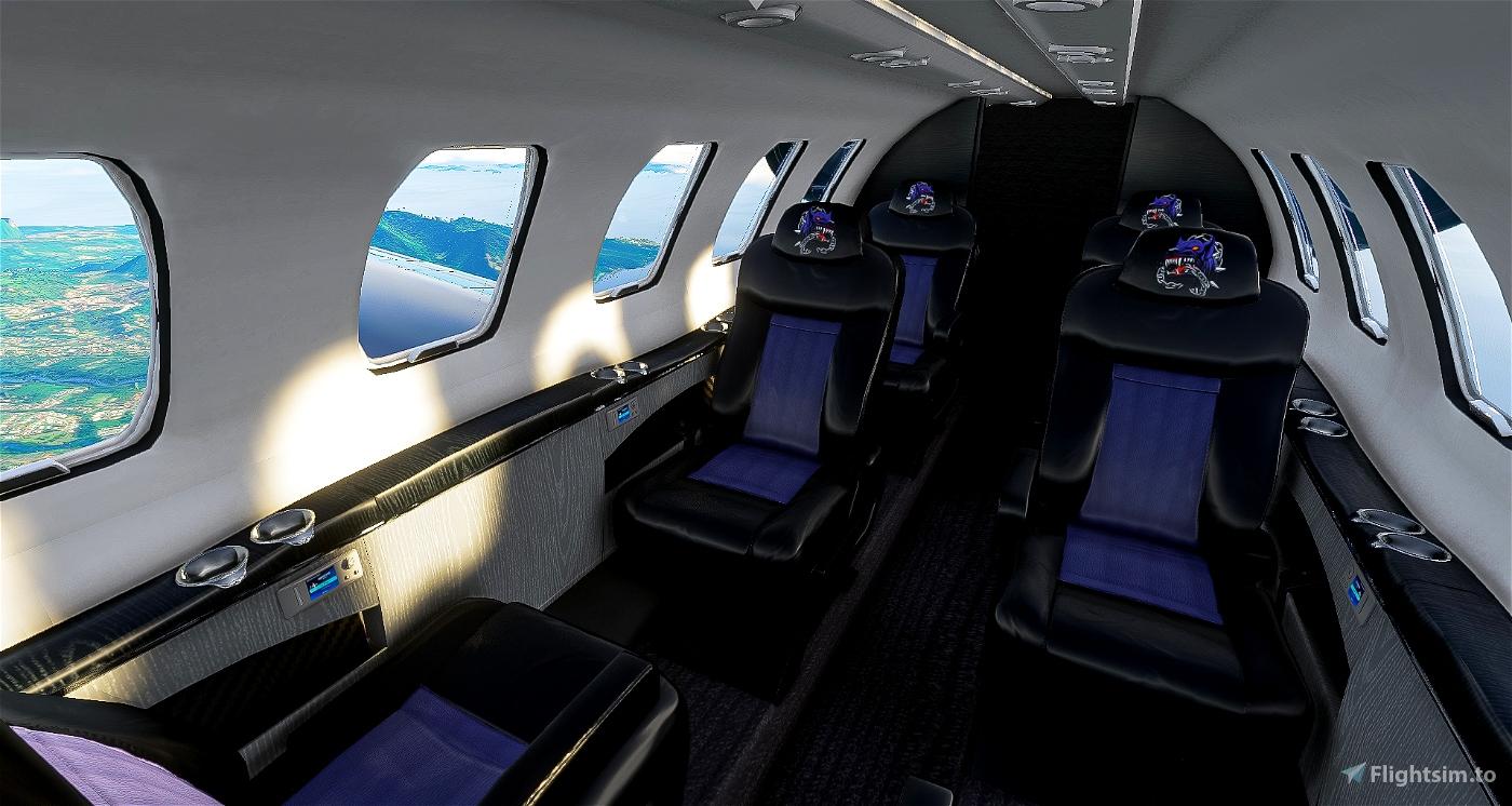 Citation CJ4 BlackDogINC (including custom Interior)