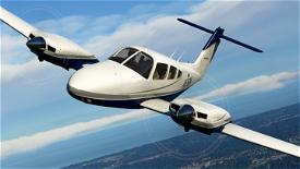 Blue and Silver Livery for Carenado PA44 Seminole Image Flight Simulator 2020