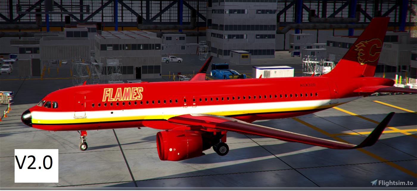 A320Neo Calgary Flames Flight Simulator 2020