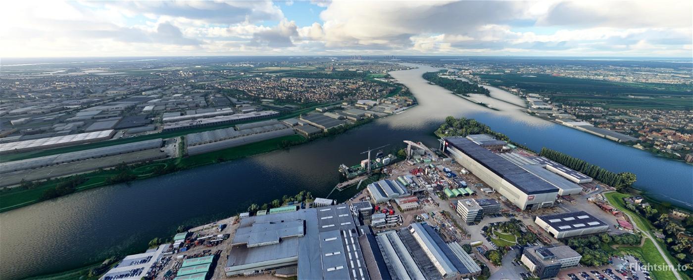Royal IHC Shipyard close to Rotterdam Flight Simulator 2020