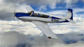 Blue / White / Grey Livery for Carenado Mooney Image Flight Simulator 2020