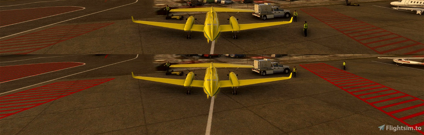 Red painted lines fix Flight Simulator 2020
