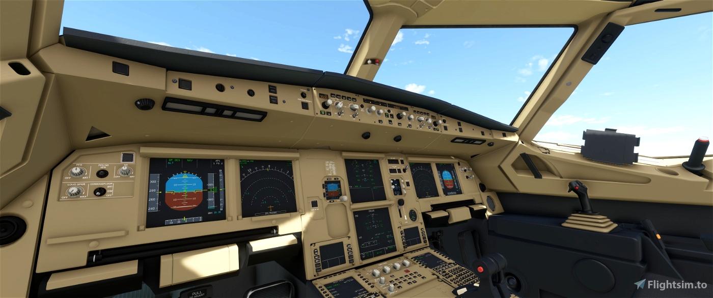 JD Cockpit Livery A320NEO Beige/Beige/Black Flight Simulator 2020