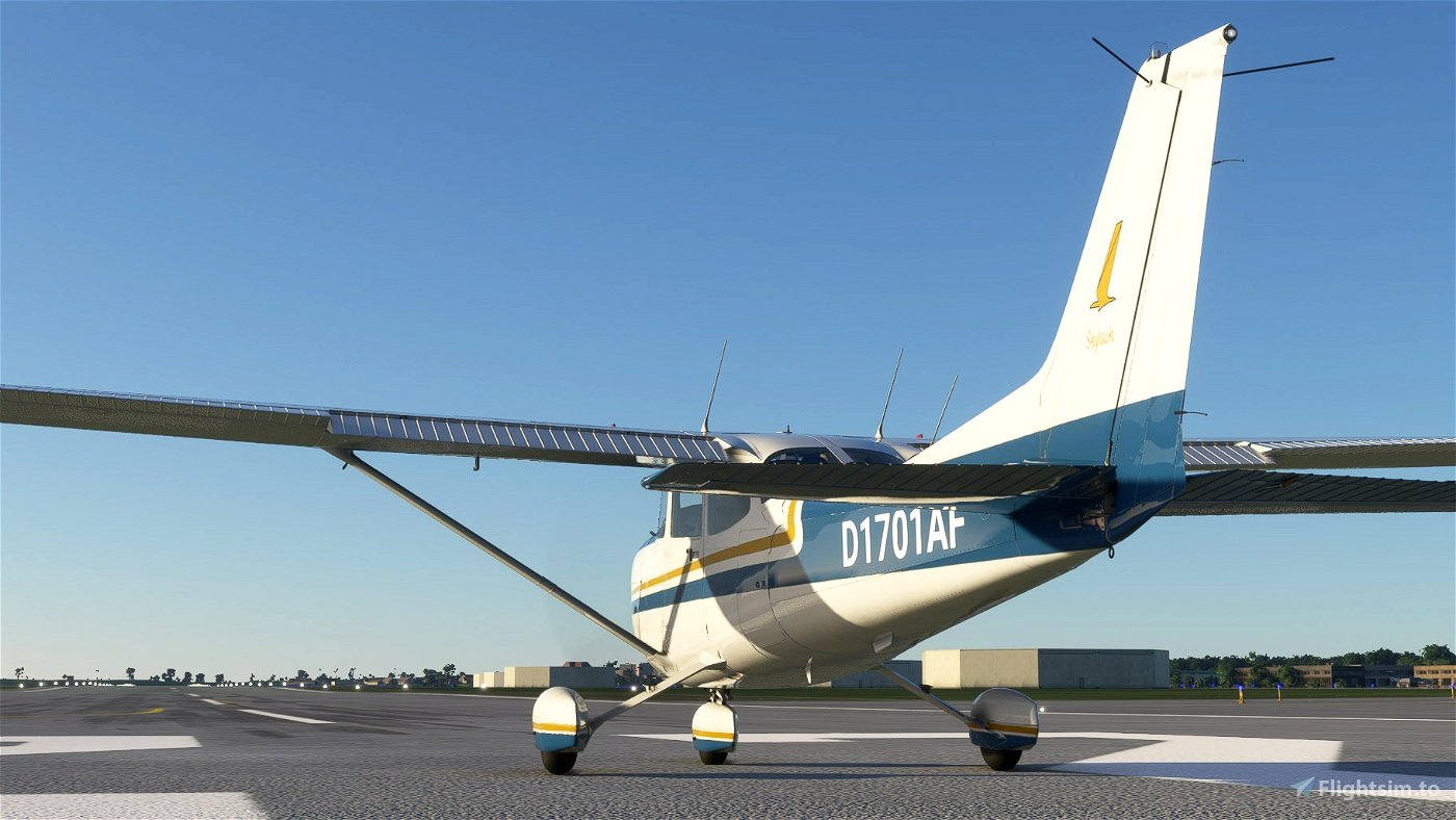 Cessna C172 Blue and Orange Livery (G1000)