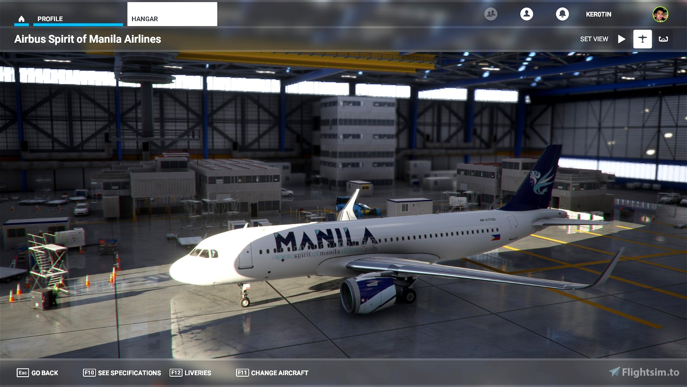 A32NX Spirit of Manila Airlines Flight Simulator 2020