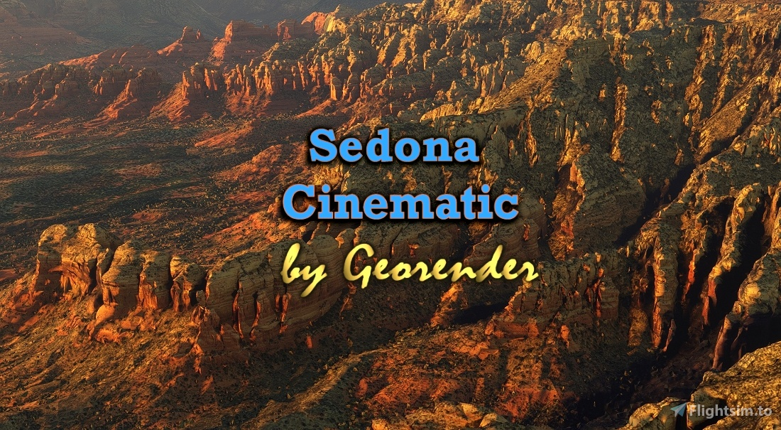 Sedona Cinematic Flight Simulator 2020