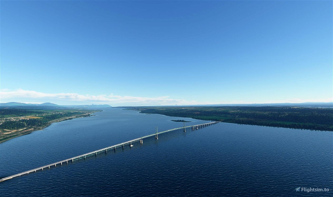 Pont Ile d'Orléans Flight Simulator 2020