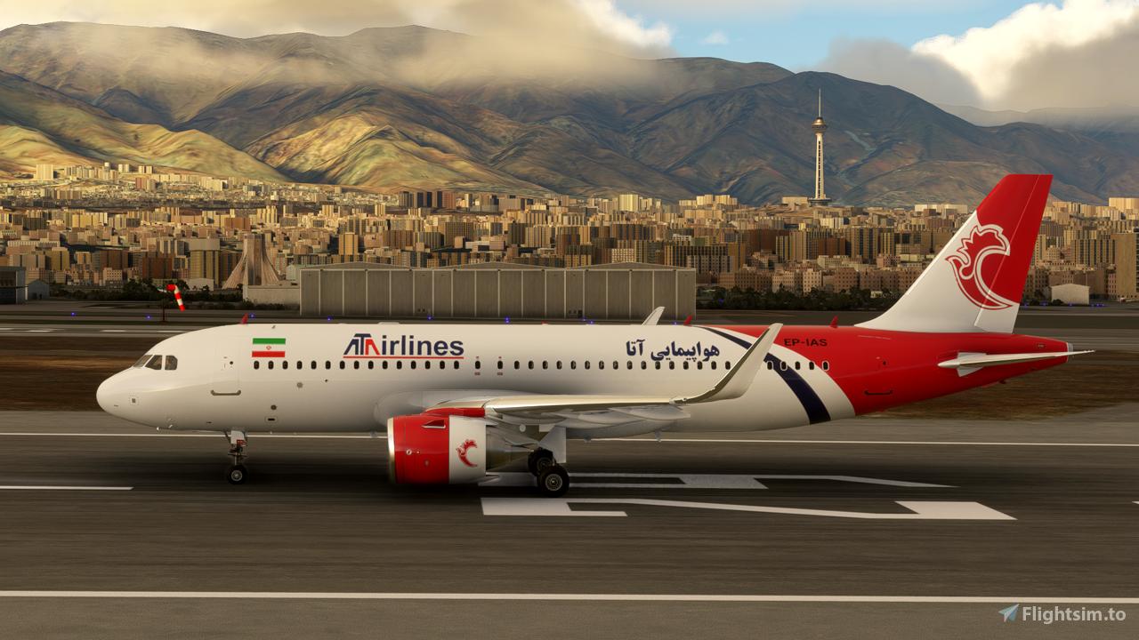 ATA Airline A320 Neo - 8K Flight Simulator 2020