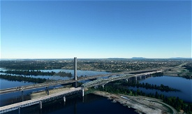 The old Champlain bridge Image Flight Simulator 2020