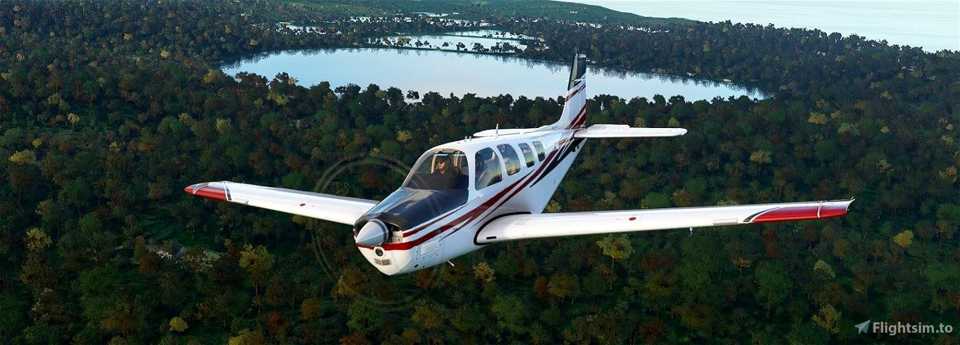Bonanza G36 red black javelin stripes (requested) Flight Simulator 2020