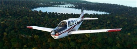 Bonanza G36 red black javelin stripes (requested) Microsoft Flight Simulator