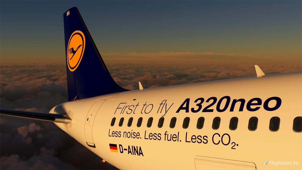 Lufthansa First to fly A320neo D-AINA(true 8k)