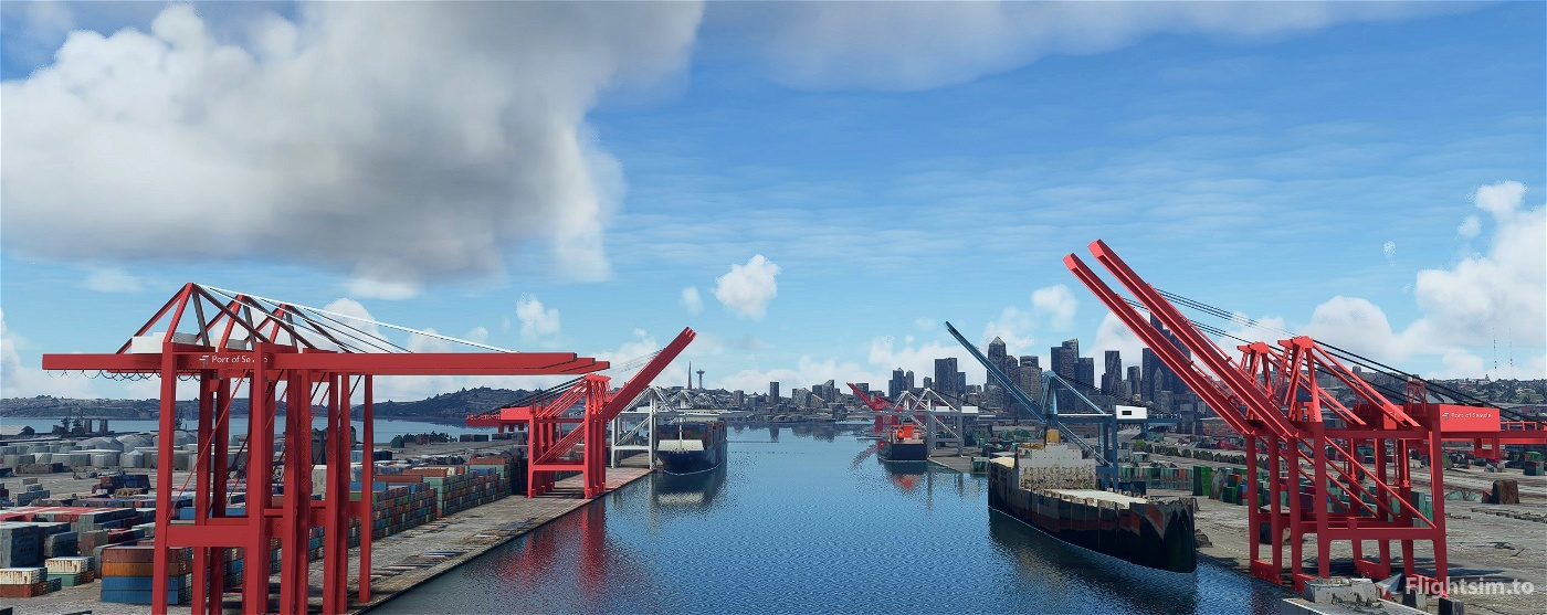 Puget Sound Cargo Terminals, Seattle and Tacoma WA USA