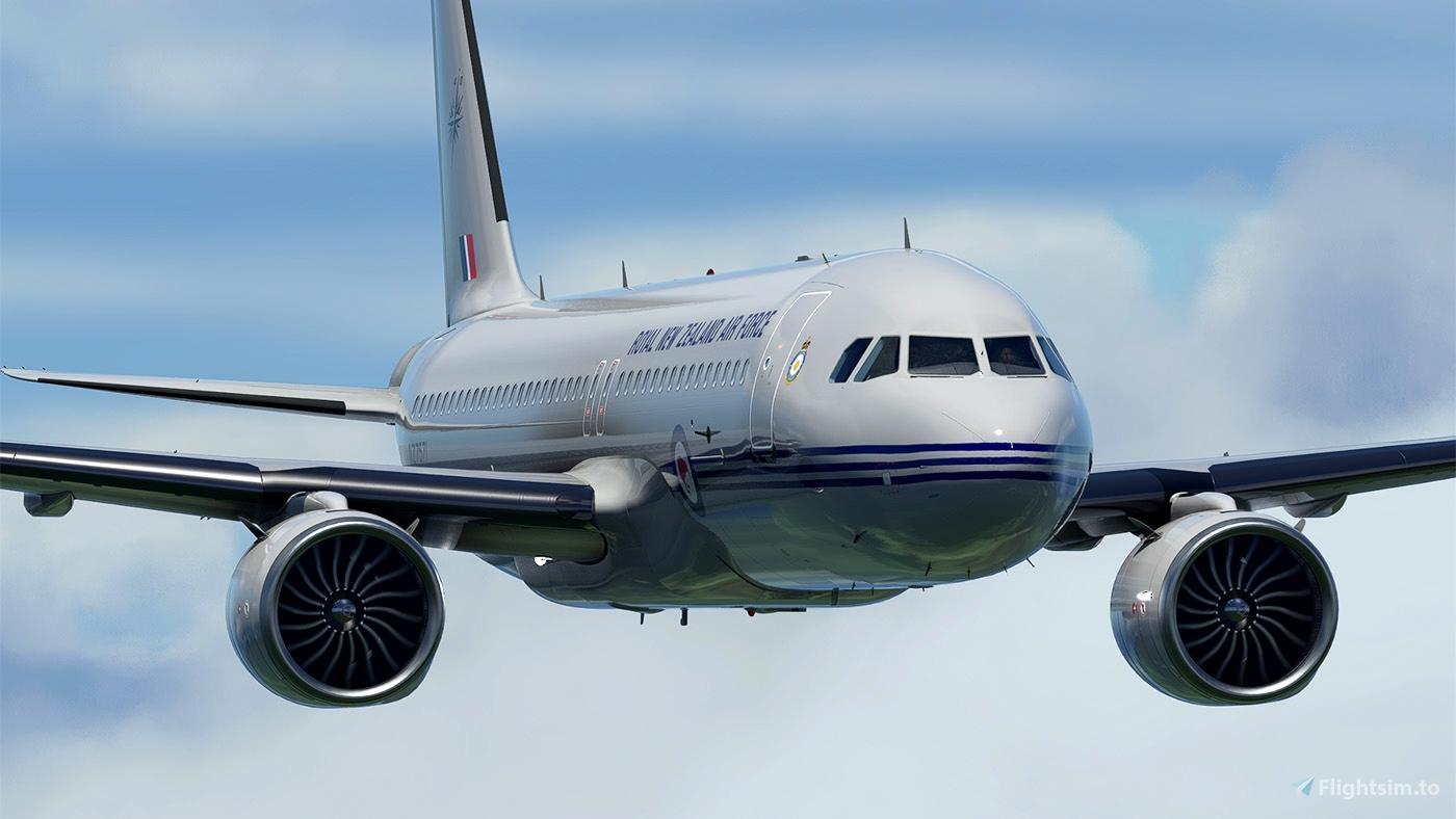 [A32NX] FlyByWire A320neo RNZAF NZ7571 - fictional Microsoft Flight Simulator