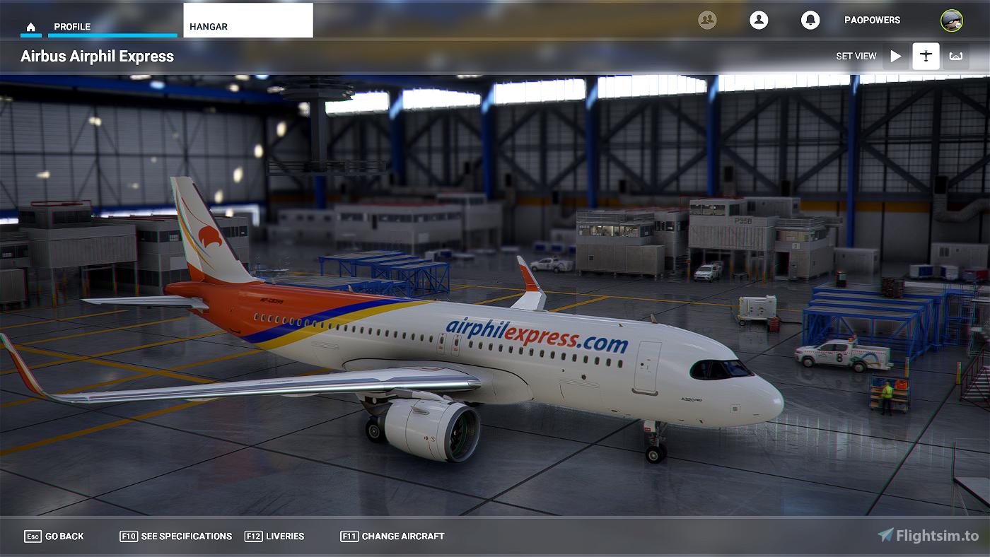 A320 Neo Airphil Express Flight Simulator 2020