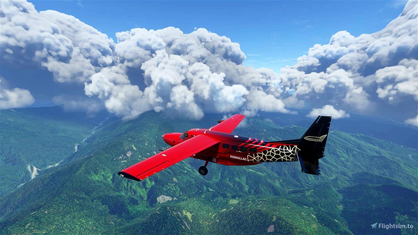 Dgwallac Airlines C208 [8K]  Flight Simulator 2020
