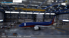 Southwest Airlines Canyon Blue Image Flight Simulator 2020