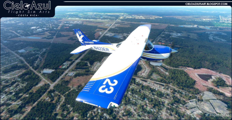 Embry-Riddle | N423ER | Asobo Cessna C172SP G1000 (8K) Flight Simulator 2020