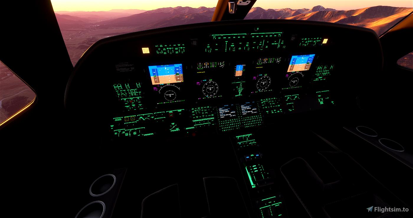CJ4 - Black interior MOD Flight Simulator 2020