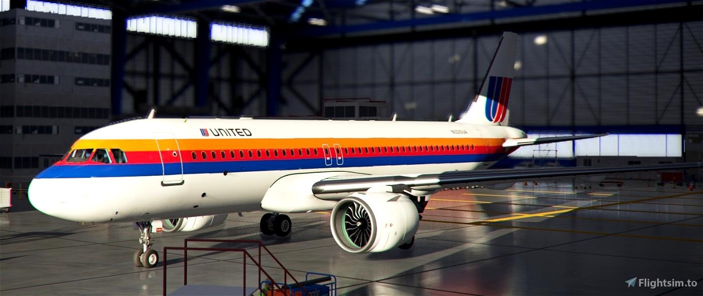 United Airlines Rainbow Livery | Airbus A320neo Flight Simulator 2020