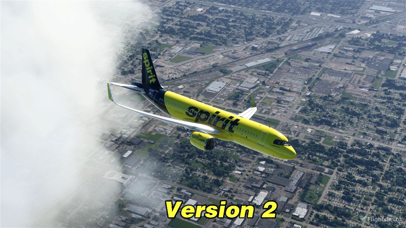 Spirit Airlines A320Neo (Black Tail)
