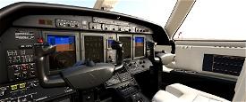 Cockpit Livery Citation CJ4 Black/Creme/Creme Image Flight Simulator 2020