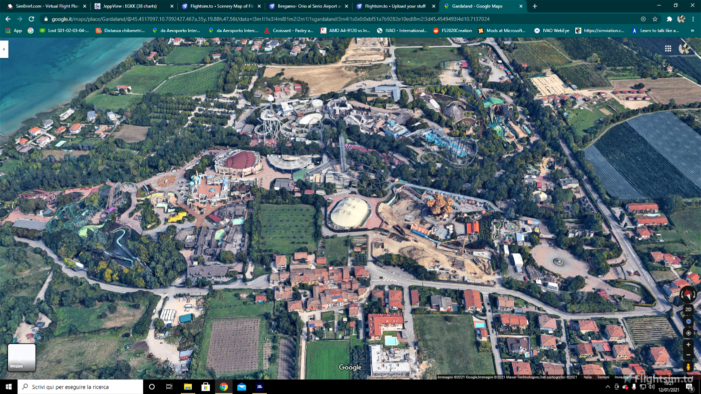 Gardaland Park Microsoft Flight Simulator