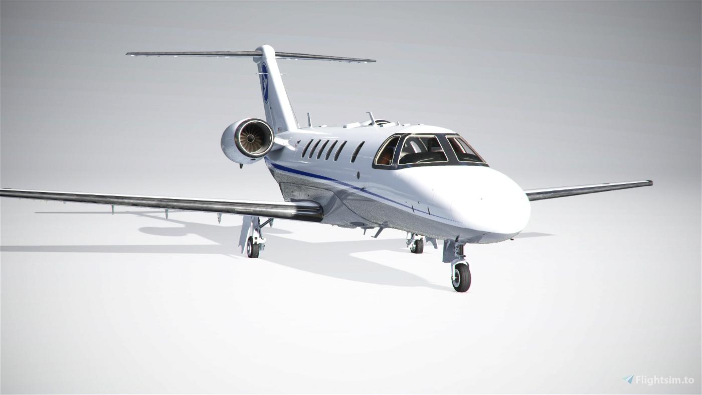 Citation CJ4 Hahn Air UPDATED (2 livery Versions) Flight Simulator 2020