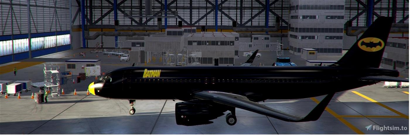A320neo Batman Livery Flight Simulator 2020