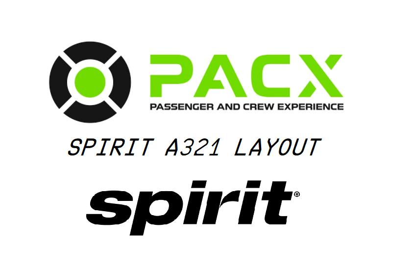 Spirit Airlines a321 layout for PACX Flight Simulator 2020