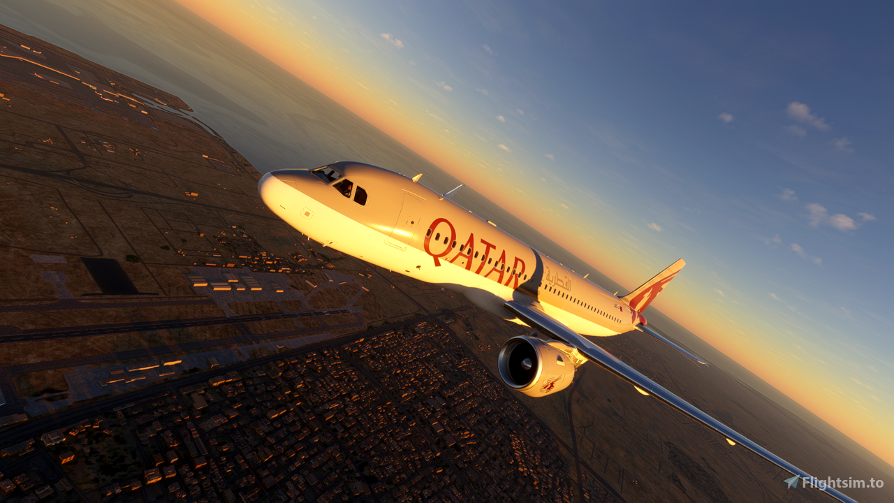 Qatar Airways A320 Neo Flight Simulator 2020
