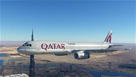 A321 Qatar Airways [8K/4K] Image Flight Simulator 2020