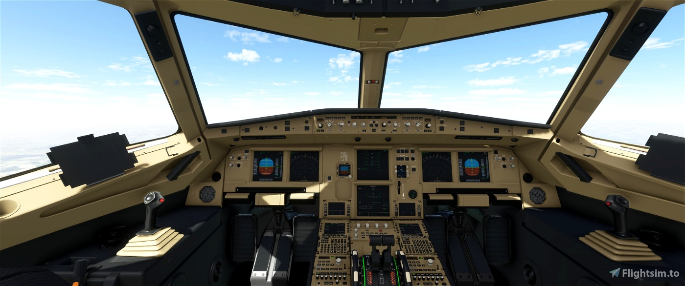 JD Cockpit Livery A320NEO Beige/Beige/Black