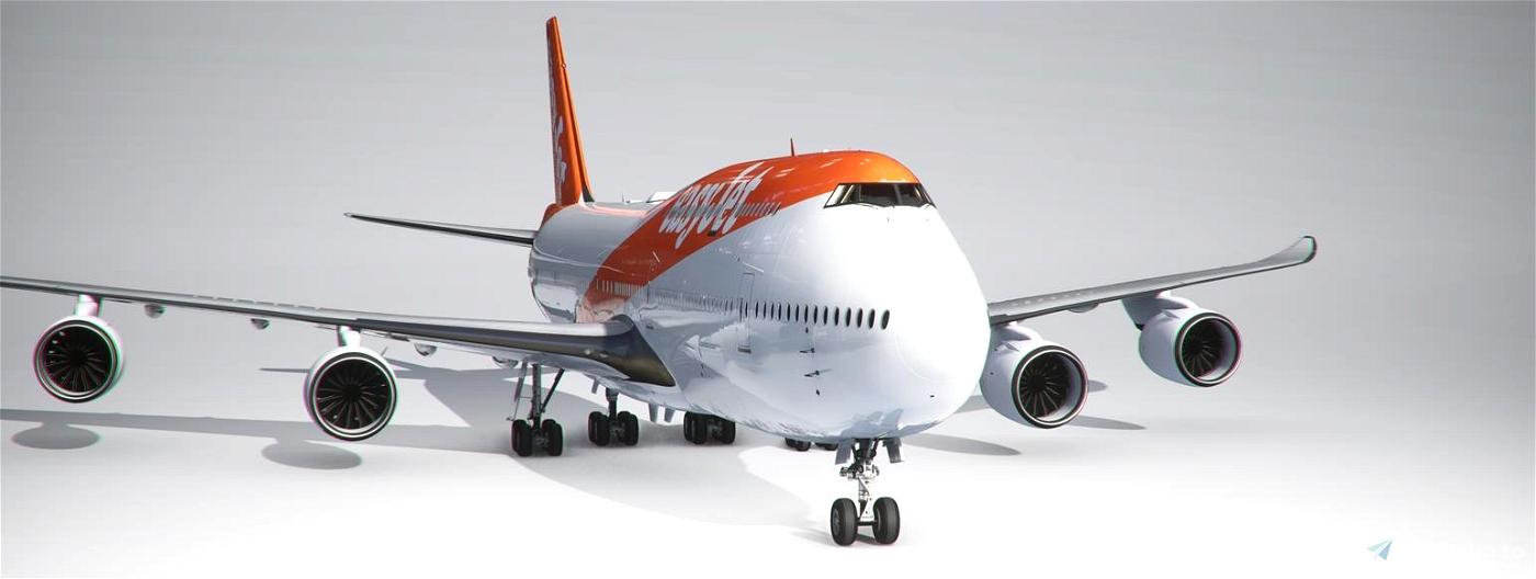 easyJet 747-8I (4K, Right Side, Working) Flight Simulator 2020