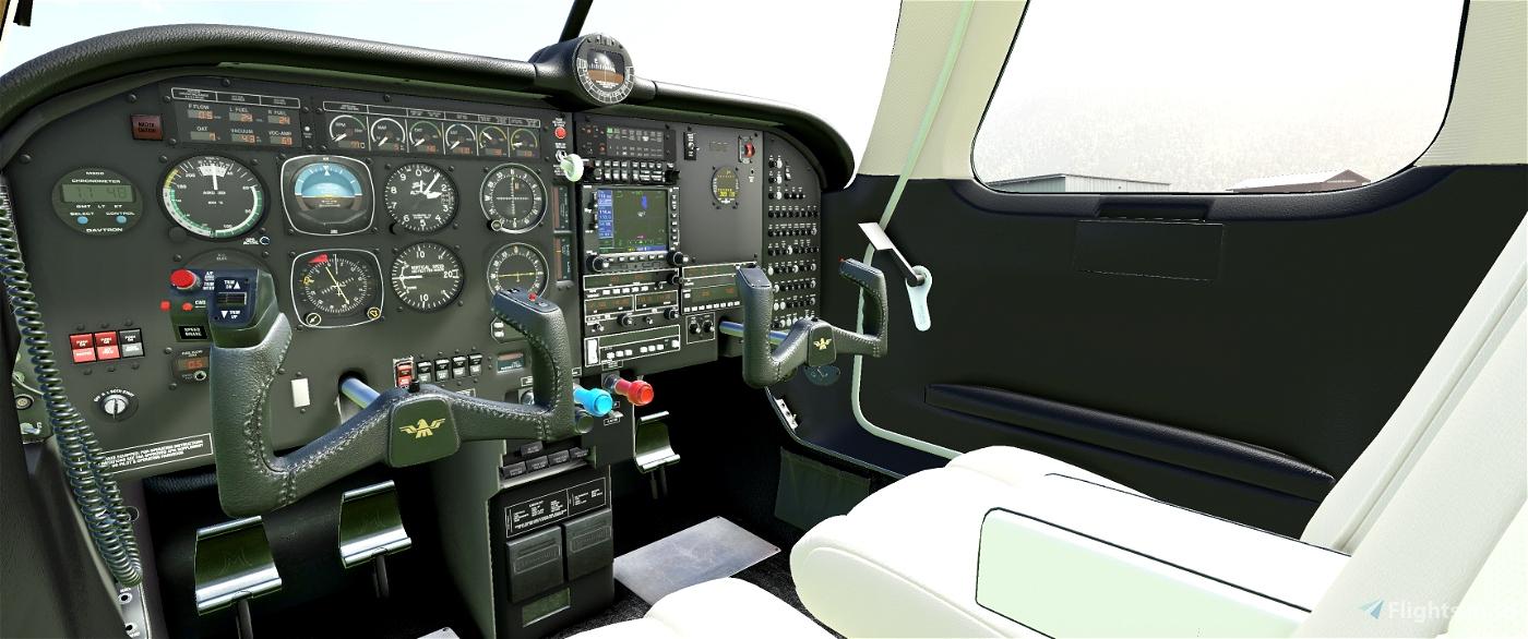 Cockpit Livery Mooney Ovation Black / Creme Flight Simulator 2020