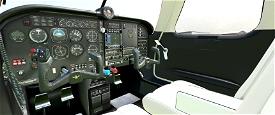 Cockpit Livery Mooney Ovation Black / Creme Image Flight Simulator 2020