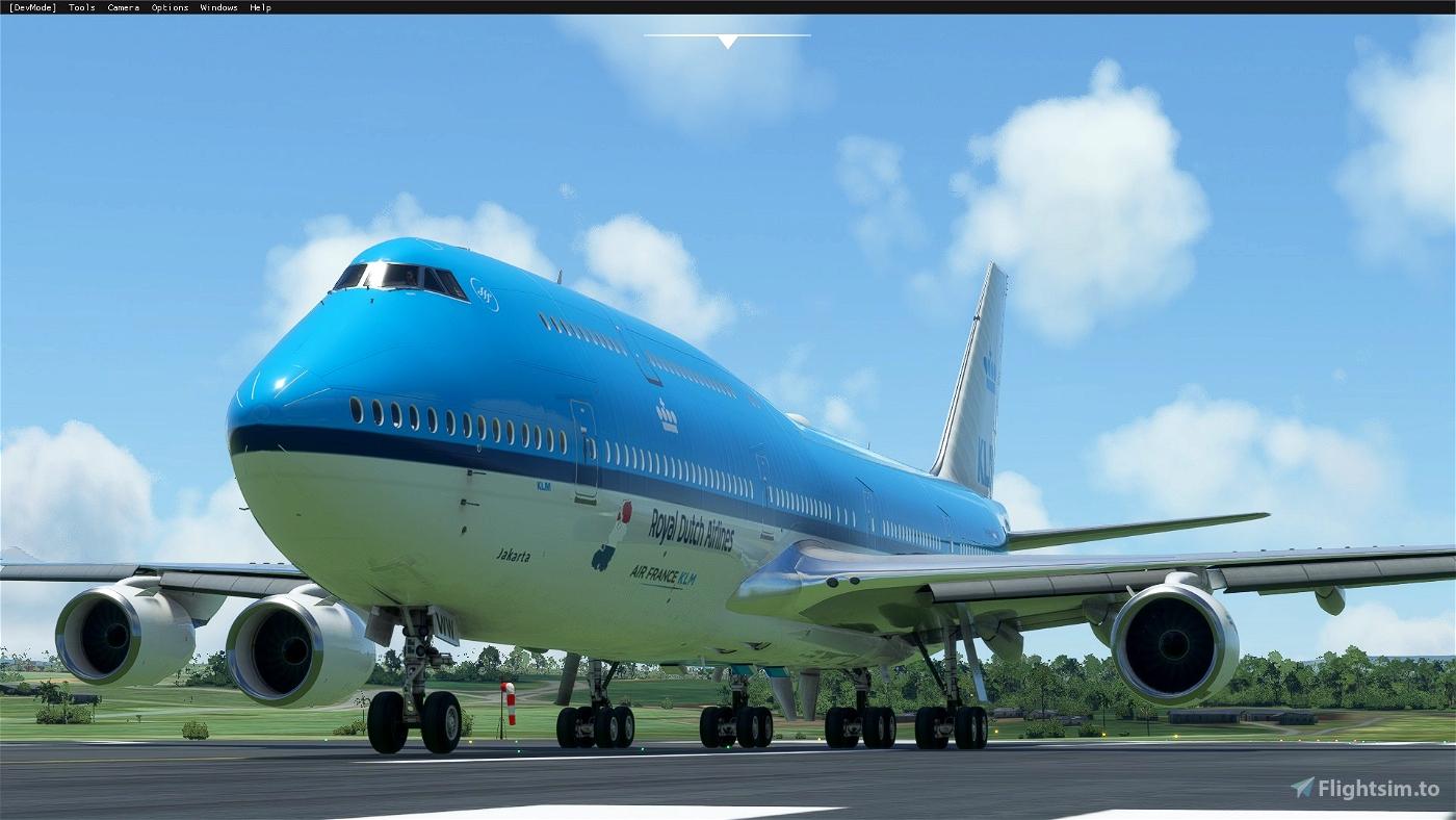 Boeing 747-8 KLM Jakarta Flight Simulator 2020
