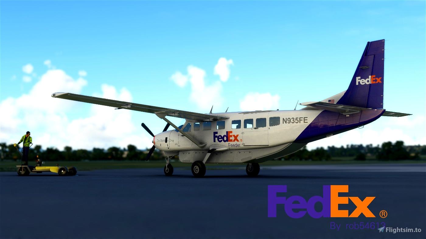 Fedex Feeder Cessna 208b Grand Caravan EX Livery Flight Simulator 2020