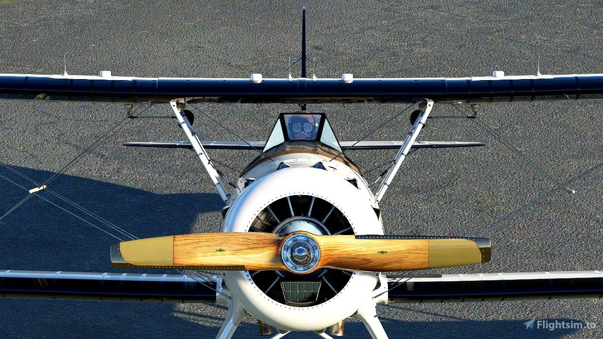 Waco YMF-5 Bright White livery