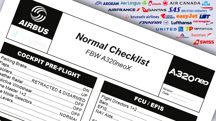 A320neo Checklist - Airline Pack Flight Simulator 2020