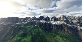 Churfirsten (Mountain Range) Switzerland Microsoft Flight Simulator