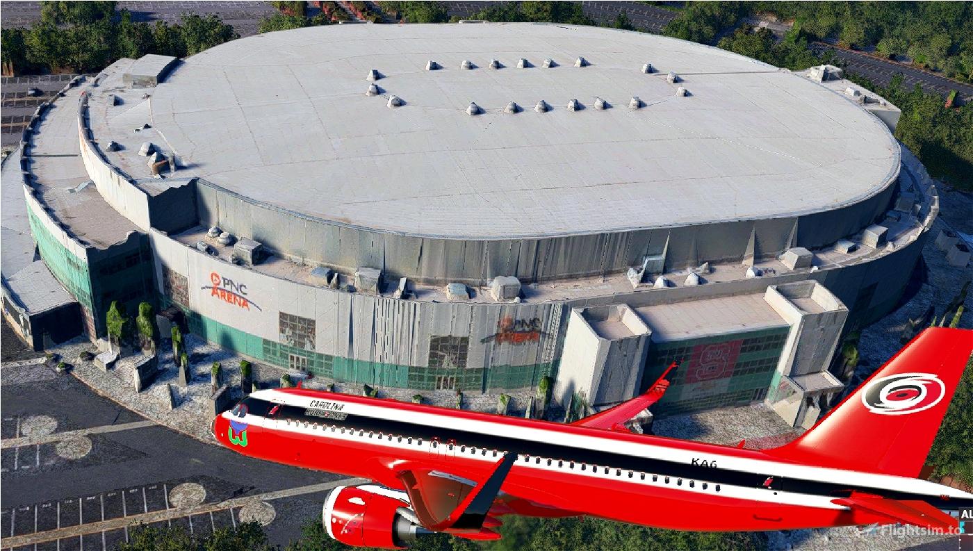 Carolina Hurricanes NHL A320Neo Livery Flight Simulator 2020