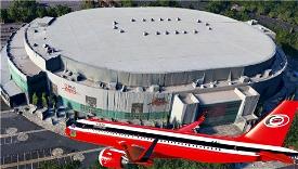 Carolina Hurricanes NHL A320Neo Livery Image Flight Simulator 2020