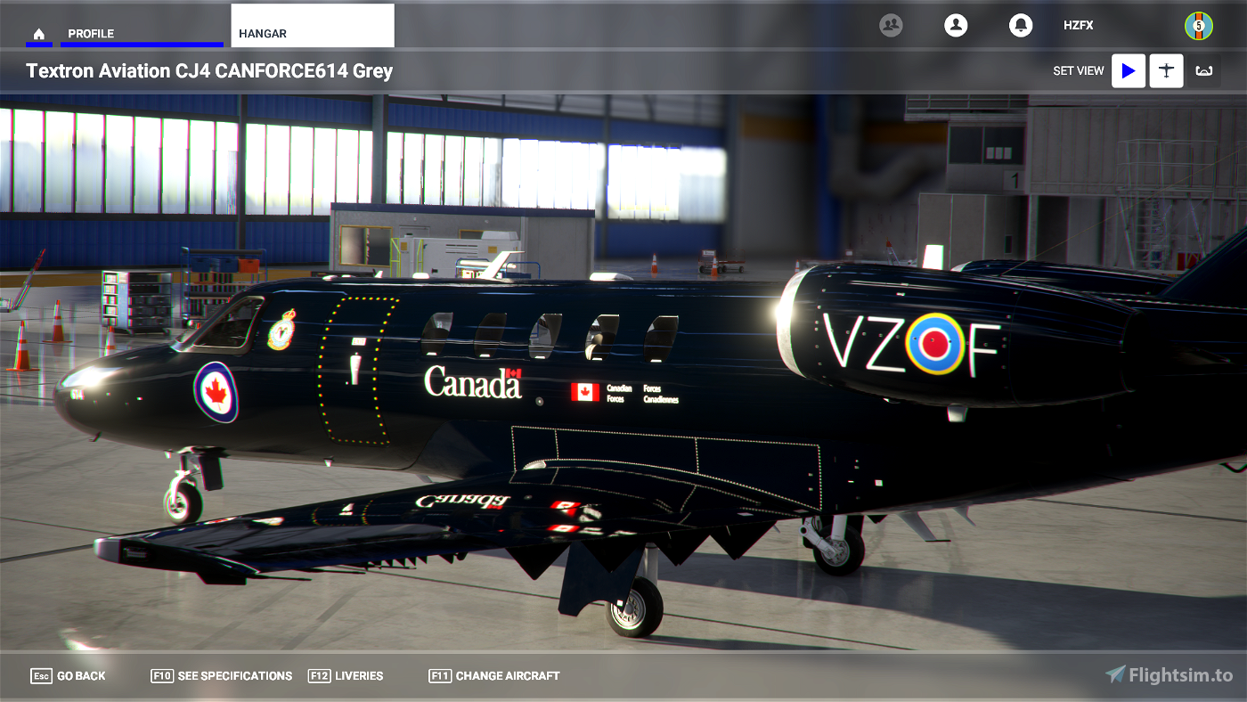 Canadian Forces VIP CC-144 Livery (Old 'CANFORCE1') - 4k - WIP Flight Simulator 2020